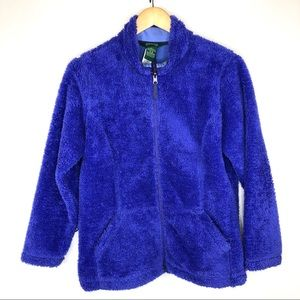 L. L Bean Womens Purple Sherpa Fleece Jacket